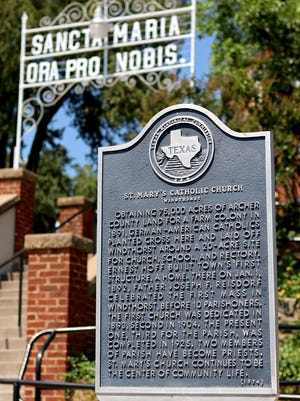 Saint Mary's Parish in Windthorst first opened in 1892 and received a historical marker from the Texas Historical Commission in 1974.