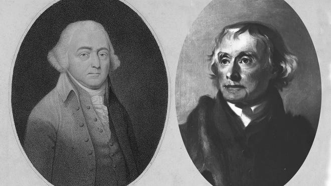 Deliberation over presidential nominees emerged from the first competitive presidential elections following the retirement of George Washington. Current personal attacks and dishonesty echo ugliness surrounding the Federalists, led by John Adams (left), and the Democratic Republicans, led by Thomas Jefferson.