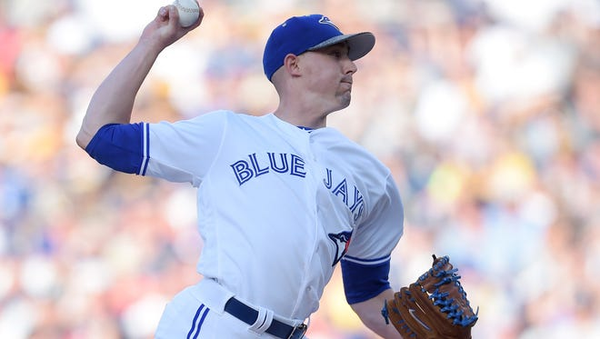 Aaron Sanchez has gone 12-2 with a 2.99 ERA, but the Blue Jays are sending him to the minors to limit his workload down the stretch.