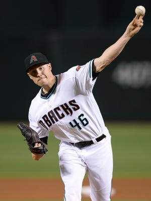 July 15, 2016; Phoenix; Arizona Diamondbacks starting pitcher Patrick Corbin (46) pitches during the first inning against the Los Angeles Dodgers at Chase Field in Phoenix.