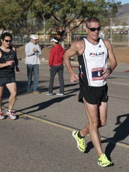 Dave McGovern competes in 50K racewalk racewalk in