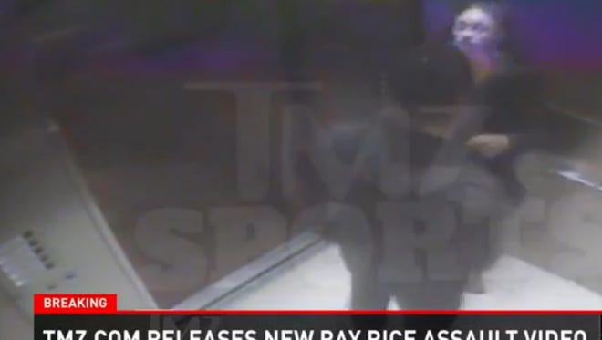 A new video was released Monday morning of Baltimore Ravens running back Ray Rice punching his wife in an elevator.