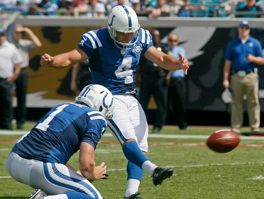 Indianapolis Colts kicker Adam Vinatieri
