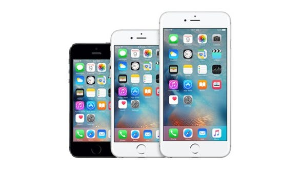 Three iPhone models.
