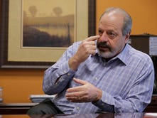 El Paso Mayor Oscar Leeser discusses his surgery for skin cancer. Leeser was treated at the University of Texas MD Anderson Cancer Center in Houston for skin cancer on the top of his head.