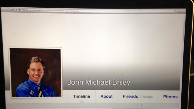 A photo of John Michael Briley's Facebook page.