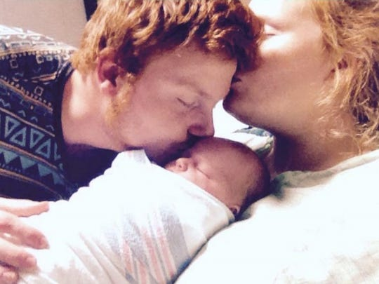William Griggs, Kassidy Leonard and their daughter