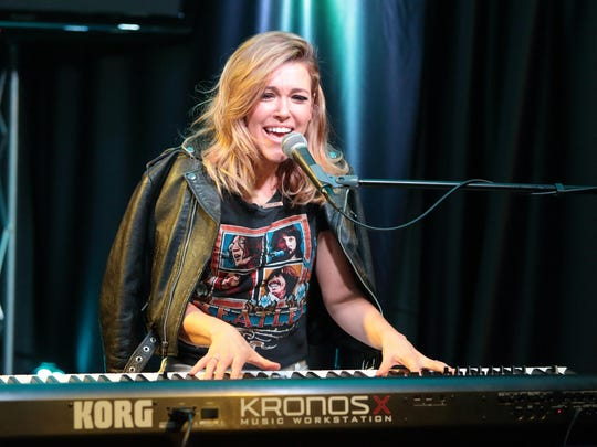 Singer-songwriter Rachel Platten visits the Q102 Performance Theater on Tuesday, March 8, 2016, in Philadelphia. (Photo by Owen Sweeney/Invision/AP)