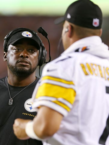 Steelers coach Mike Tomlin and QB Ben Roethlisberger