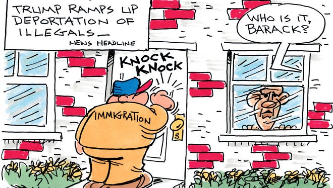 Charlie Daniel's cartoon for Friday, March 10, 2017.