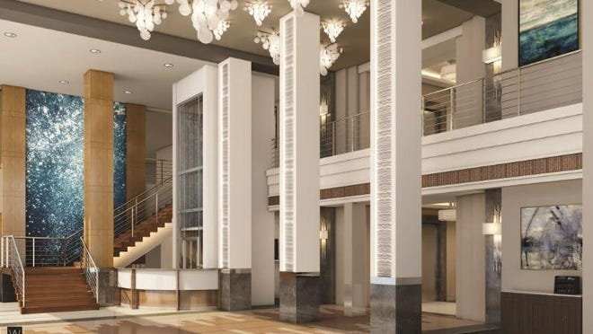 Rendering of the Campo Felice main lobby