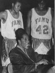 Claudette Farmer coaching Florida A&M's women's basketball team during the early 1990's.