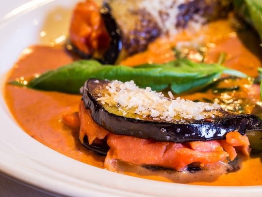 At Cafe Fiore in South Lake Tahoe, look for eggplant crêpes stuffed with smoked salmon.