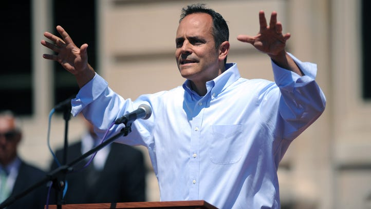 Kentucky's GOP gubernatorial nominee, Matt Bevin, speaks