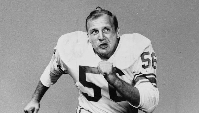 Detroit Lions Hall of Fame linebacker Joe Schmidt.