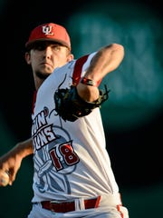 UL pitcher Evan Guillory will finally get a chance to pitch at Tigue Moore Field on Tuesday after getting all the road midweek starts so far this season.