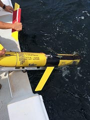 "Robot ""Bass"" collects data about chlorophyll as well as temperature, salinity and water density."