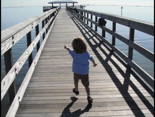 1Garnet running on dock