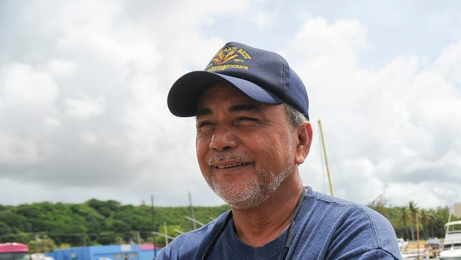 Manny Duenas, president of the Guam Fisherman's Co-op, is shown at the Hagatna boat basin in this June 13, 2012, file photo. Duenas said while he supports the upcoming military buildup, he has concerns about how proposed restrictions in the islandÕs northern waters could affect local fishing.