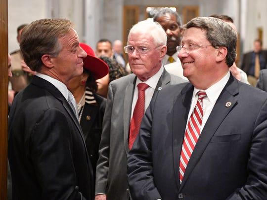 Governor Bill Haslam  and Senate Majority Leader Mark