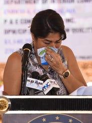 First lady Christine Calvo, The Rigålu Foundation founder,