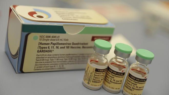 The Human Papillomavirus (HPV) vaccine Gardasil is shown.