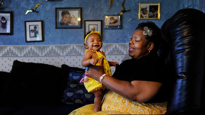 Sylvia Rochelle Haynes is taking care of Kaliah Ro'chelle Henry, whose mother was incarcerated when the girl was born. The hospital was not able to make presumptive eligibility determination. Now Haynes faces bills from the baby's first month.