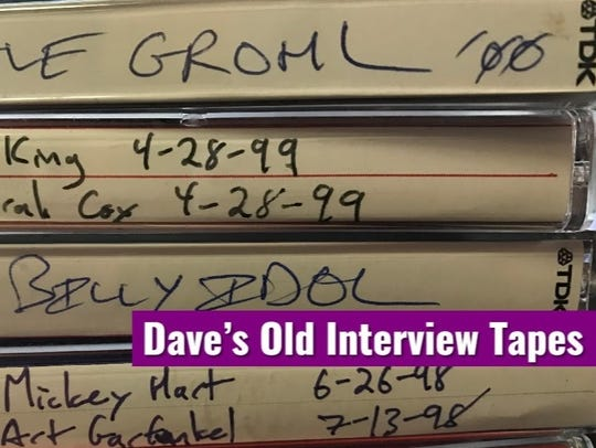 "The ""Dave's Old Interview Tapes"" podcast, featuring interviews by IndyStar music reporter David Lindquist, debuted in July 2017."