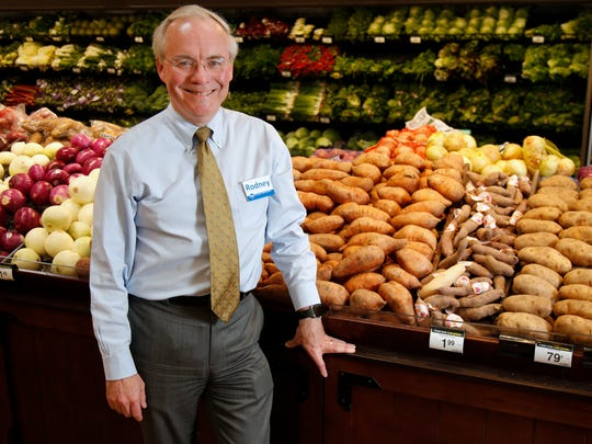 Kroger CEO Rodney McMullen poses for a portrait, Wednesday, June 1, 2016, in the produce section of the Oakley Kroger Marketplace in Cincinnati.