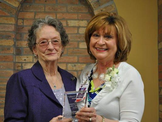 Volunteer of the Year Henrietta Weidman, Director of Customer Svc Katherine .jpg