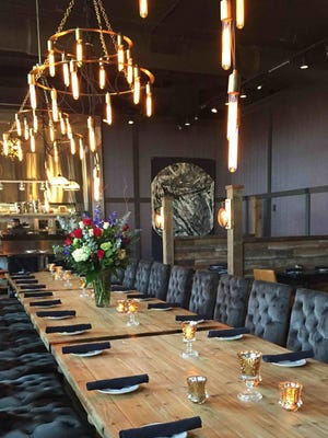 Seating at Kindred, 2535 S. Kinnickinnic Ave. in Bay View, includes a long communal table. The restaurant opens Sunday.