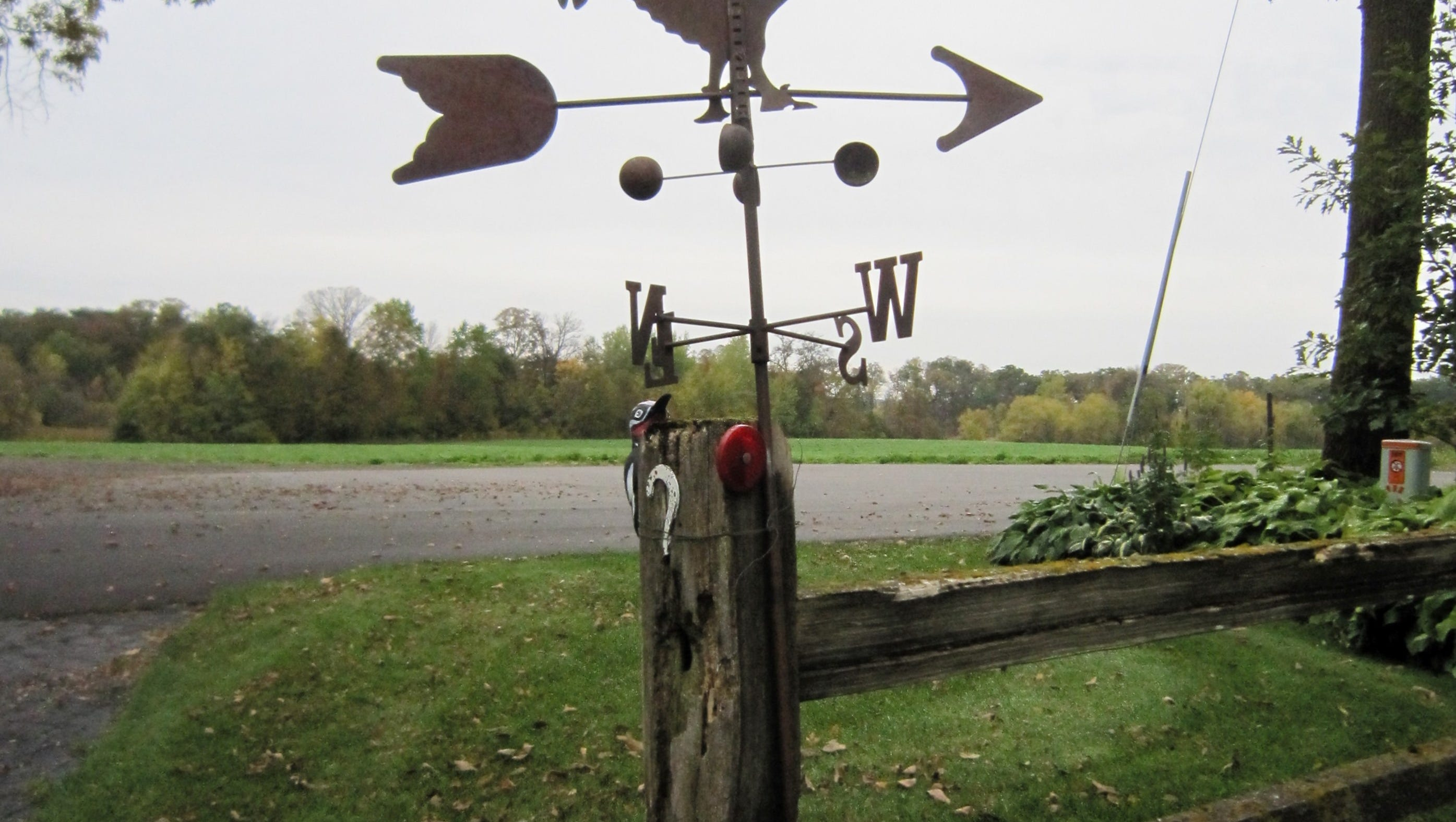 """Outdoor Black Weathervane 24/"""" Rooster USA Made Farmhouse Country Barn"""