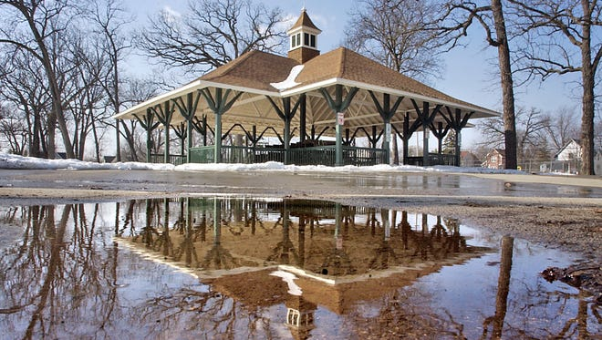 The pavilion at Taylor park.