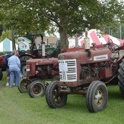 Antique tractors were on display at the 2015 Sandusky County Fair.