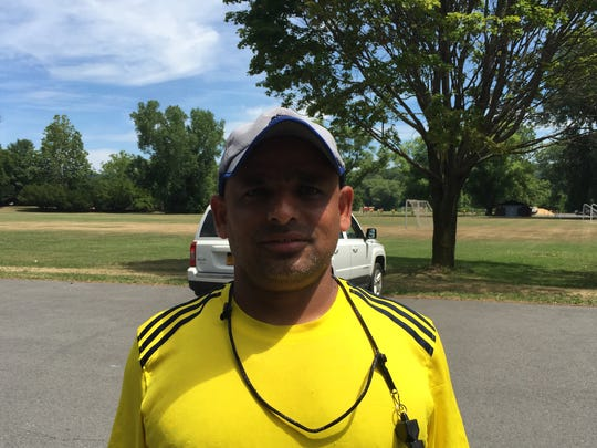 Diya Abed, a referee and player in the Ithaca United