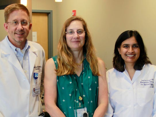 (Left to right)DermatologistsMichael Sisack, MD;Carla