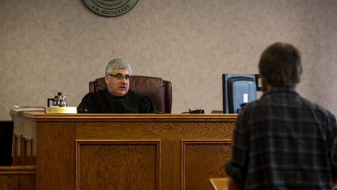 Probate Judge John Tomlinson speaks March 3, 2017 during Adult Mental Health Court at the St. Clair County Courthouse in Port Huron.