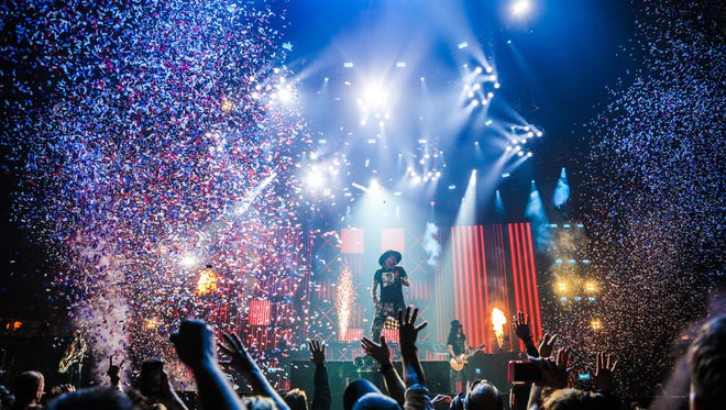 Guns N' Roses at Detroit's Little Caesars Arena on Thursday, Nov. 2, 2017.
