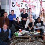 """LOS ANGELES, CA - NOVEMBER 15:  (L-R) Actors Steve Monroe, Jay Paulson, Joel Michaely, Peter Facinelli, Ethan Embry, Jenna Elfman, Eric Balfour, Sean Patrick Thomas, and Jennifer Lyons attend The Art of Elysium and Samsung Present a Cast Q&A and Screening of """"Can't Hardly Wait"""" at Samsung Studio LA on November 15, 2015 in Los Angeles, California.  (Photo by Jonathan Leibson/Getty Images for Samsung) ORG XMIT: 591721351 ORIG FILE ID: 497332094"""