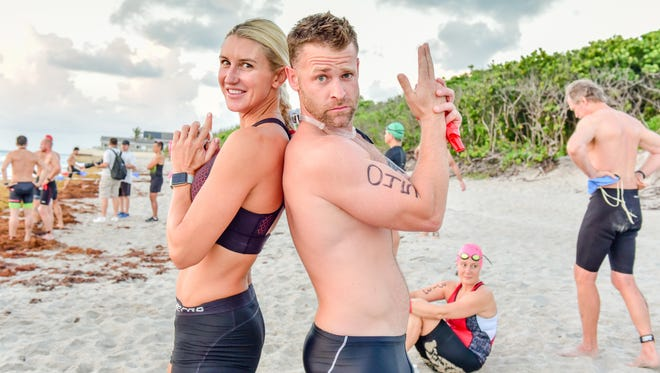 For two friends, Jahnel Kinnebrew and Jeremy Howard, training for the Loggerhead Triathlon is all about the camaraderie.