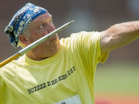The javelin throw is one of the events at the National