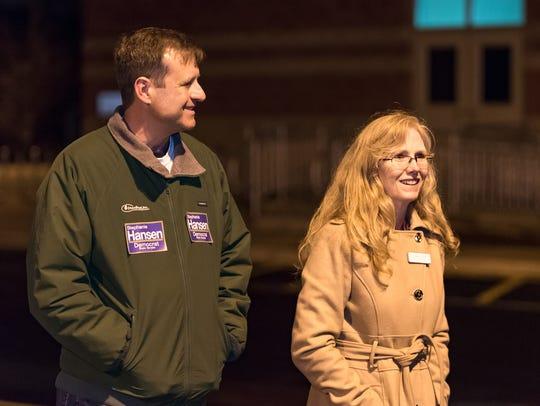 Stephanie Hansen and her husband, David Marturana,