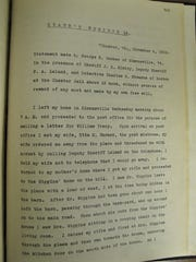 The confession of George Warner for the slaying of his father-in-law and mother-in-law.