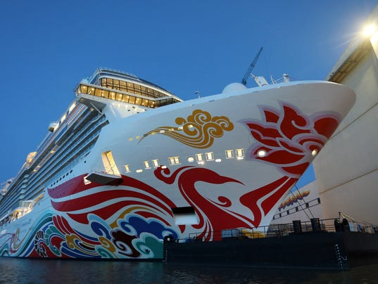 Giant New Norwegian Cruise Line Ship Emerges From Shipyard