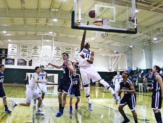 Miles Bowser (11) is one of four seniors for the Christ School basketball team.