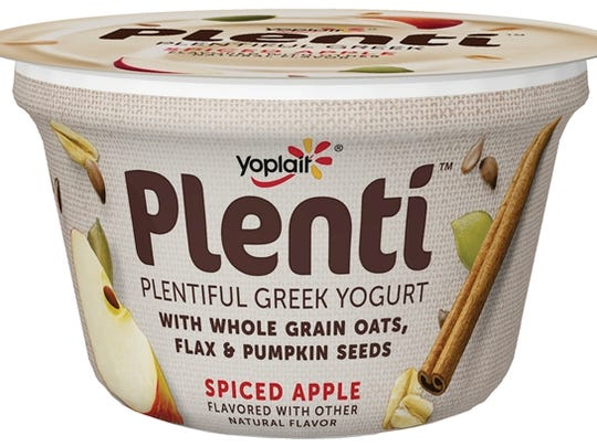 Crunchy seeds and spiced apple make this yogurt perfect
