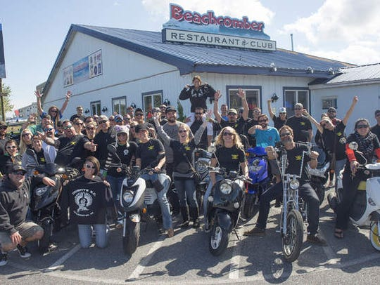 Scooter and moped riders gather for events throughout
