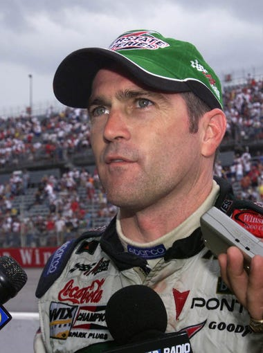 Bobby Labonte was interviwed trackside at the Southern 500 in Darlington following a wreck-plagued finished which saw him take the lead and finidhed third under a red flag to Ward Burton and Jeff Gordon in August 2001.