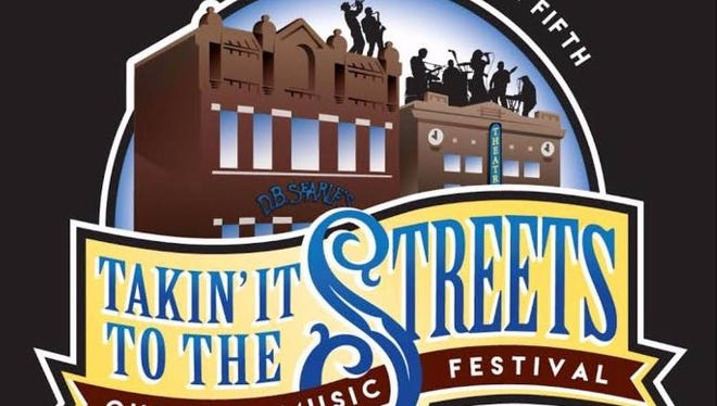 The logo for the Pioneer Place on Fifth Takin' It To The Streets outdoor music festival for 2017.