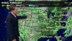 The Midwest can expect to see high temperatures with some rain. The South will see some showers, along with the Northeast. The West will also see some rain.